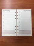 Deluxe Loose-leaf Daily Appointment Pages 3 3/4 x 6 3/4