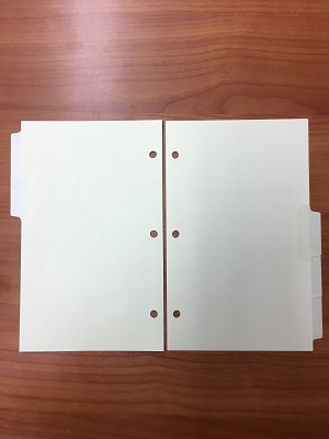 "5-Division Erasable Side-tab Index with Stick-on Labels 5"" x 8"""