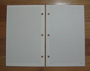 Deluxe Loose-leaf 5 x 8 Graph Paper Pages