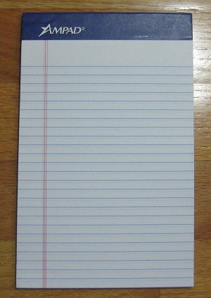Standard Slip-in Memo Pads (5) for 5 3/8 x 8 1/2 Loose-leaf