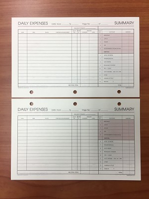 Deluxe Loose-leaf Expenses Pages 3 3/4 x 6 3/4