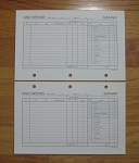 Standard Loose-leaf 5 3/8 x 8 1/2 Daily Expense Pages