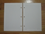 Standard Loose-leaf 5 3/8 x 8 1/2 Graph Paper Pages