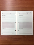Deluxe Loose-leaf 5 x 8 Meeting Agenda Pages
