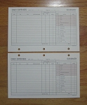 Deluxe Loose-leaf 5 x 8 Expense Pages